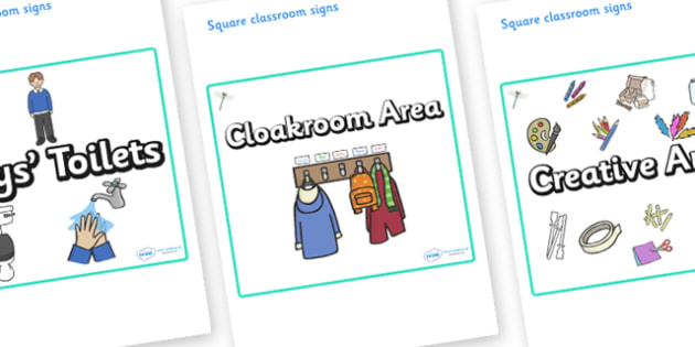 Dragonfly Themed Editable Square Classroom Area Signs (Plain) - Themed Classroom Area Signs, KS1, Banner, Foundation Stage Area Signs, Classroom labels, Area labels, Area Signs, Classroom Areas, Poster, Display, Areas
