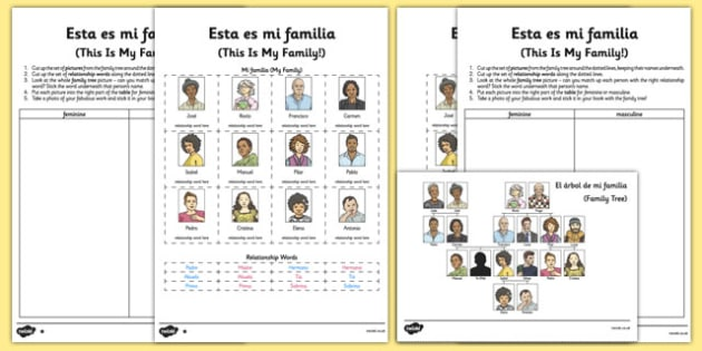 Esta es mi familia Spanish Activity Sheet - spanish, esta es mi familia, activity, worksheet