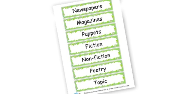 Reading Corner Labels - Reading Area Primary Resources, signs, area, zones, banner, poster