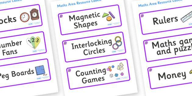 Amethyst Themed Editable Maths Area Resource Labels - Themed maths resource labels, maths area resources, Label template, Resource Label, Name Labels, Editable Labels, Drawer Labels, KS1 Labels, Foundation Labels, Foundation Stage Labels, Teaching La