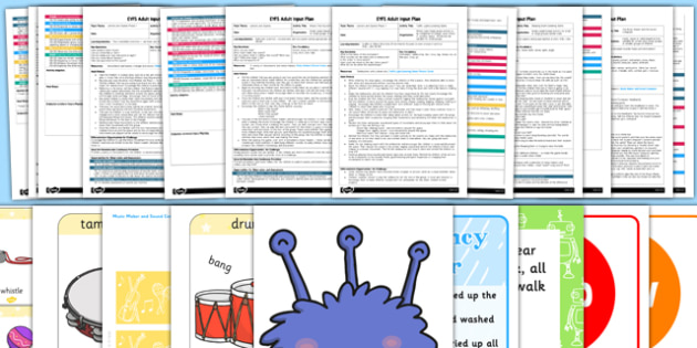 EYFS Aspect 2: Instrumental Sounds Adult Input Planning and Resource Pack