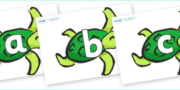 Phoneme Set on Turtles - Phoneme set, phonemes, phoneme, Letters and Sounds, DfES, display, Phase 1, Phase 2, Phase 3, Phase 5, Foundation, Literacy