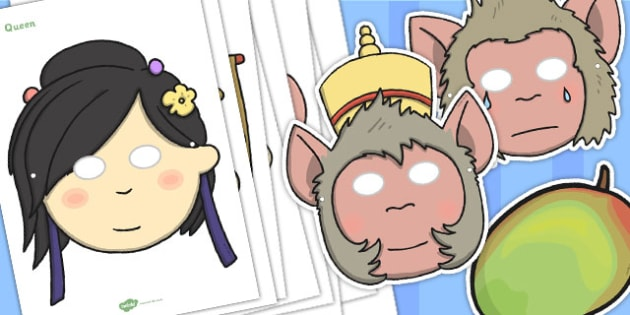 The Monkey King Story Character Masks - monkey king, story, masks