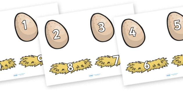 Number Bonds to 10 on Eggs and Nests - on the farm, number bonds on eggs and nests, number bonds on eggs, egg number bonds, number bonds to 10, egg bonds