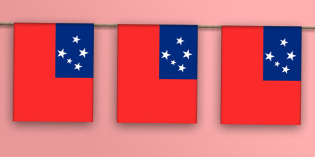 Samoa Flag Display Bunting - countries, geography, display, flags