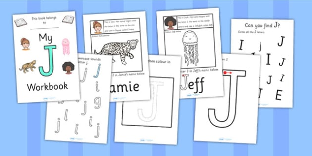 My Workbook J uppercase - education, home school, child development, children activities, free, kids, worksheets, how to write, literacy