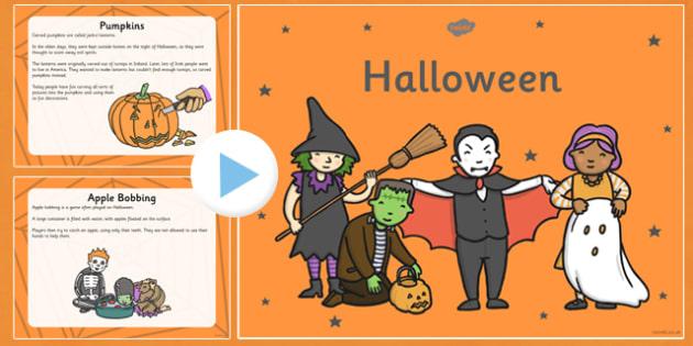 Halloween Information PowerPoint KS1 - halloween, information, powerpoint, ks1