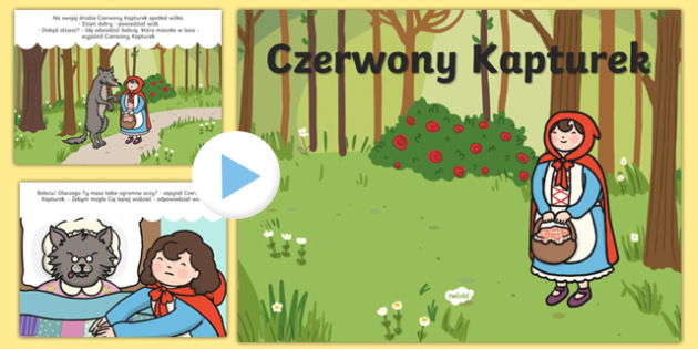 Prezentacja PowerPoint Czerwony Kapturek po polsku