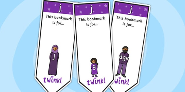 j Sound Family Editable Bookmarks - j sound family, editable bookmarks, bookmarks, editable, behaviour management, classroom management, rewards, awards