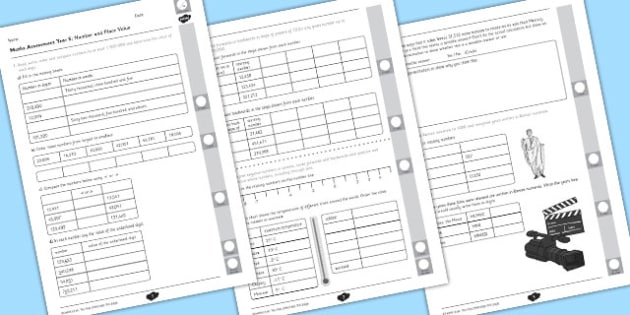 Year 5 Maths Assessment Number and Place Value Term 1 - assessment