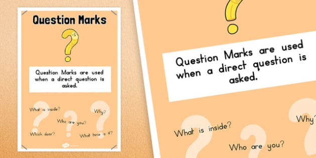 Question Marks Punctuation Poster - australia, punctuation, question marks
