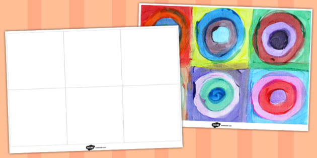 Wassily Kandinsky Painting Circles Template - template, circles