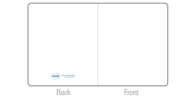 Editable Greetings Card Template - Blank editable card templates, editable, card template, editable template, card design, design, card, card template, foundation stage, KS1, teaching template