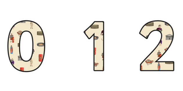 The Romans Themed A4 Display Numbers - Display-Numbers- romans, display numbers