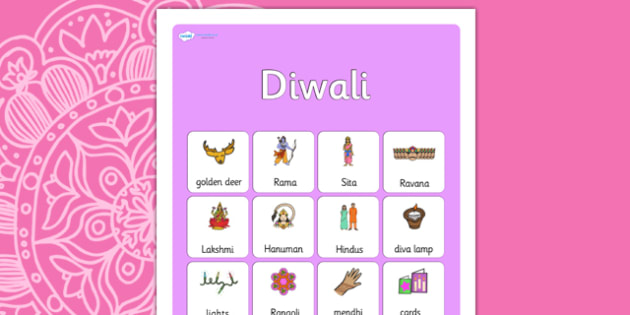 Diwali Vocabulary Poster - diwali, posters, display posters, themed posters, images, pictures, key words, diwali posters, diwali vocabulary, vocabulary