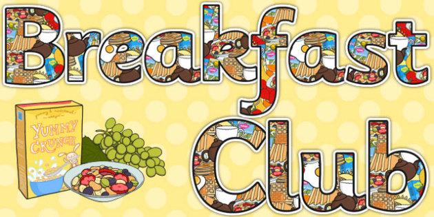 Breakfast Club Display Lettering - breakfast club, display, lettering