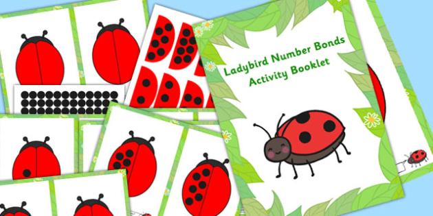 Ladybird Number Bonds Activity Booklet - activities, numbers