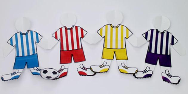 World Cup Football Team Paperchain Activity - football, sports