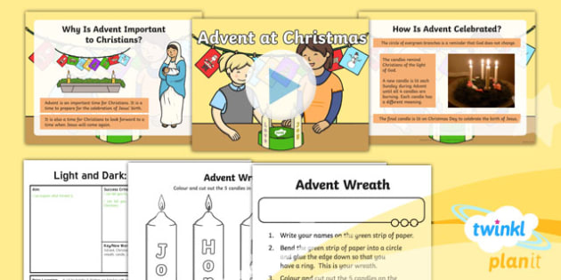 PlanIt - RE Year 2 - Light and Dark Lesson 1: Advent at Christmas (Christianity) Lesson Pack
