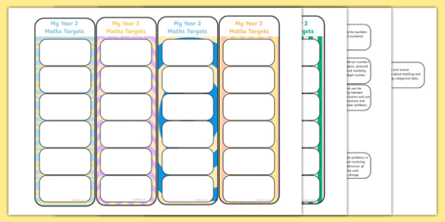 2014 Curriculum Year 2 Maths Target Bookmarks - numeracy, ks1