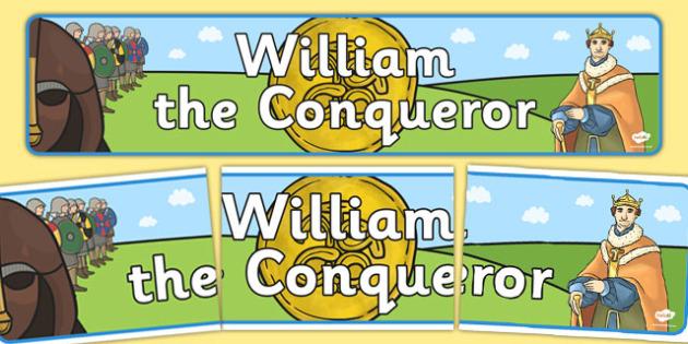 William the Conqueror Display Banner - display, banner, william