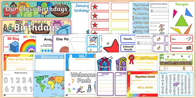 New Classroom Set Up Resource Pack for KS1 - September, Classroom, Display, Calendar, Visual Timetable, Resource Pack, KS1, Ideas