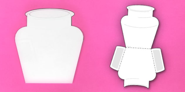 Interactive Vase-Shaped Pocket Visual Aid Template - visual aid