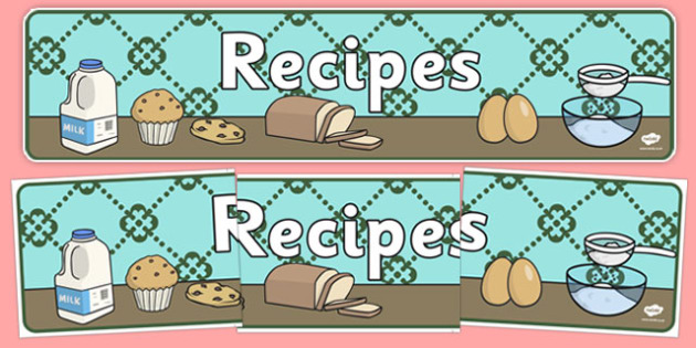 Recipes Display Banner - display banner, display, banner, recipes, cooking, baking, activity, class