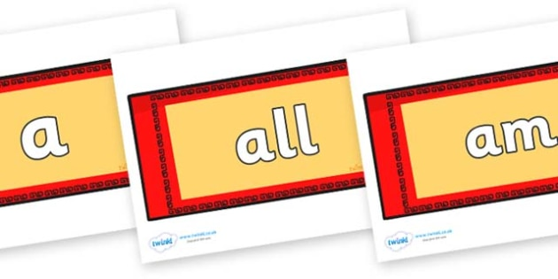 Foundation Stage 2 Keywords on Chinese Money Wallets - FS2, CLL, keywords, Communication language and literacy,  Display, Key words, high frequency words, foundation stage literacy, DfES Letters and Sounds, Letters and Sounds, spelling