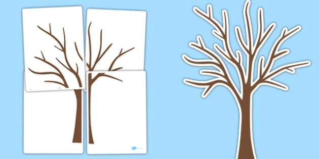 Large Tree Cut Out Large Tree Tree Outline Cut Out