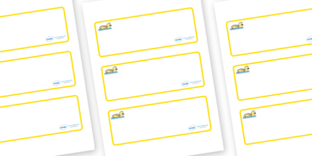 Gosling Themed Editable Drawer-Peg-Name Labels (Blank) - Themed Classroom Label Templates, Resource Labels, Name Labels, Editable Labels, Drawer Labels, Coat Peg Labels, Peg Label, KS1 Labels, Foundation Labels, Foundation Stage Labels, Teaching Labe
