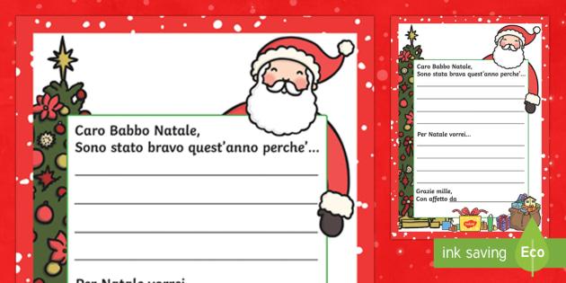 La mia letterina a Babbo Natale - La mia letterina a Babbo Natale, Babbo natale, letterina, la mia letterina, lettera, natale, feste,