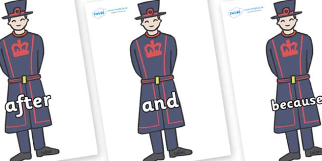Connectives on Beefeaters - Connectives, VCOP, connective resources, connectives display words, connective displays