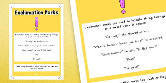 Exclamation Marks Punctuation Poster - australia, punctuation, exclamation marks
