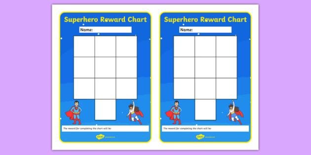 Superhero Themed Reward Chart - superhero, reward chart, reward, chart, display