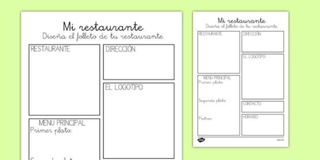 Plantilla del folleto de mi restaurante - comida, escritura, crear, escritura natural