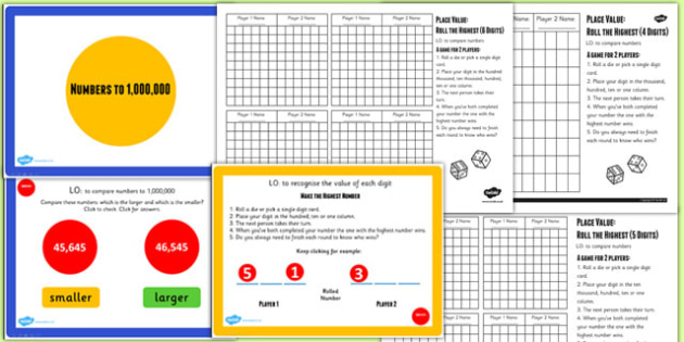 Year 5 Numbers to 1000000 Lesson 3 Teaching Pack - numeracy