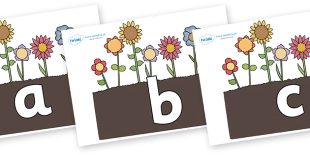 Phoneme Set on Flowers in Garden - Phoneme set, phonemes, phoneme, Letters and Sounds, DfES, display, Phase 1, Phase 2, Phase 3, Phase 5, Foundation, Literacy
