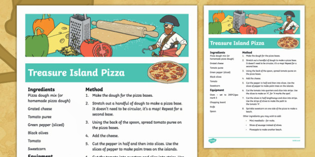 Treasure Island Pizza Recipe