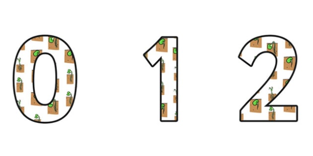 Growth Display Numbers - growth, growth numbers, growth themed numbers, growth themed cut out numbers, growth and change, growth display, growing, ks2