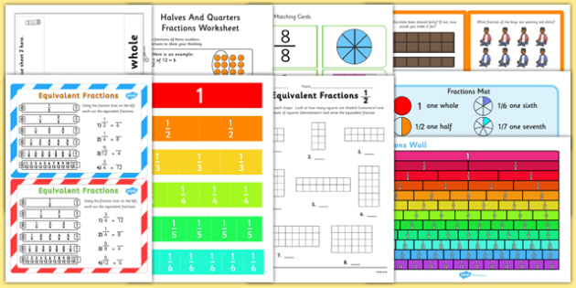 Top 10 Fractions Activity Pack - top ten, top 10, fractions, activity pack, activity, pack