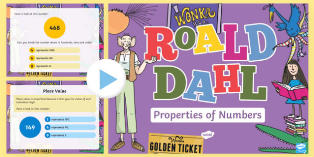 Place Value Roald Dahl Themed Year 2 PowerPoint-Welsh