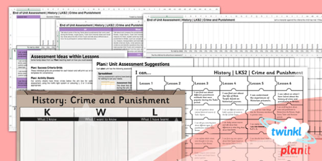 PlanIt - History LKS2 - Crime and Punishment Unit Assessment Pack - planit, history