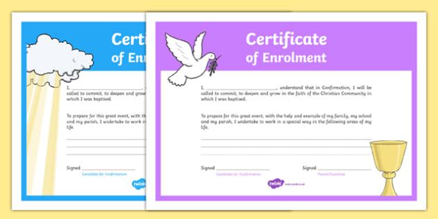 Confirmation Enrolment Certificate-Irish