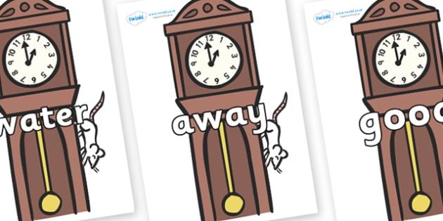 Next 200 Common Words on Clocks - Next 200 Common Words on  - DfES Letters and Sounds, Letters and Sounds, Letters and sounds words, Common words, 200 common words