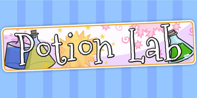 Potion Lab Display Banner - potions, science, potion lab, banner