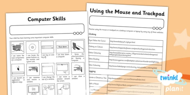 PlanIt Computing Year 1 Computer Skills Unit Home Learning Task