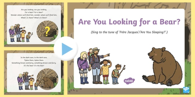 Are You  Looking for a Bear? Song PowerPoint