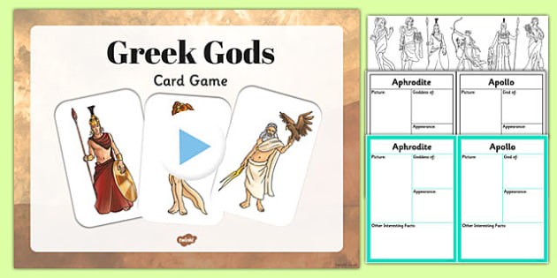 Ancient Greek Gods Information Cards Teaching Pack - teaching