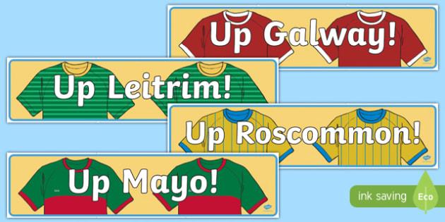 Irish Connacht Counties GAA Display Banner